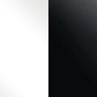 білий глянець/чорний матовий