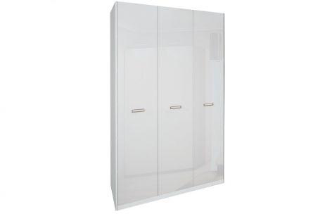 Белла Шкаф 3 дв. без зеркала Белый глянец Миромарк