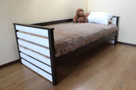 Телесик Кровать 90х200 венге/белый