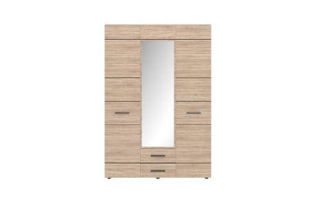 Соло Шкаф 3D2S (с зеркалом) дуб сонома/темное венге ВМВ Холдинг