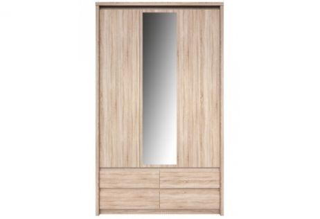 Нортон Шкаф SZF 3D4S (с зеркалом) дуб cонома ВМВ Холдинг