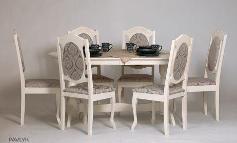 Стіл Гостинний 120х80+40 + стілець Консул