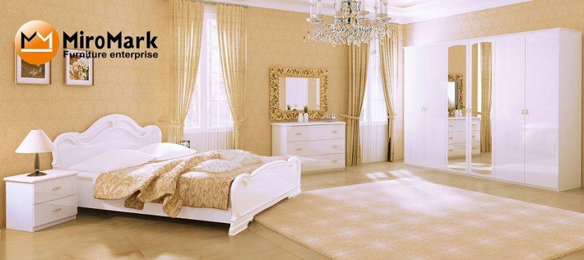 Футура Спальня со шкафом 6 дв. Белый глянец Миромарк