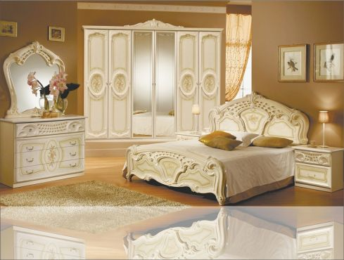 Реджина Спальня со шкафом 6 дв. Радика беж Миромарк