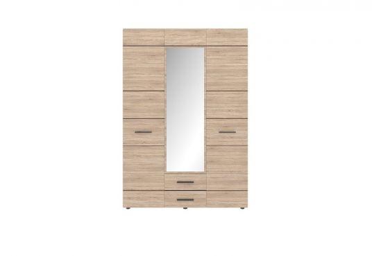 Соло Шафа 3D2S (з дзеркалом) дуб сонома/темне венге ВМВ Холдинг