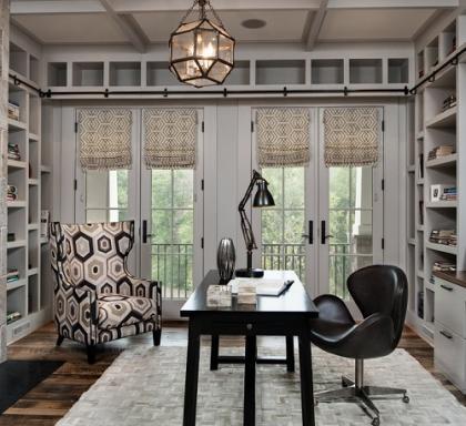 Дизайн з чорними меблями